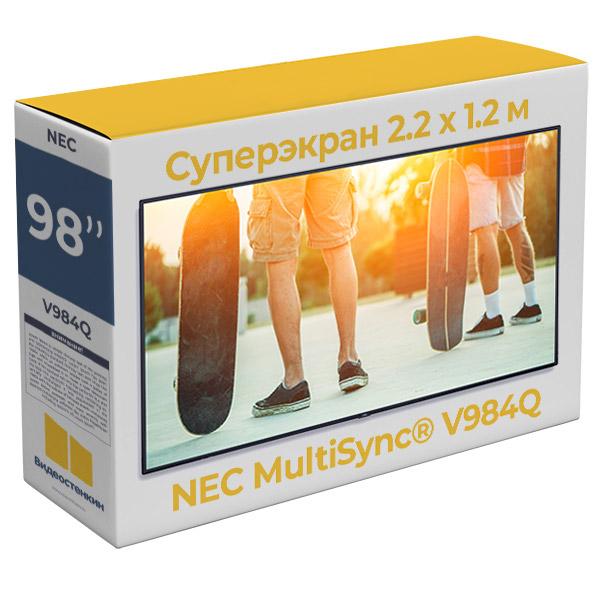 Профессиональная 4K LCD LED панель NEC V984Q