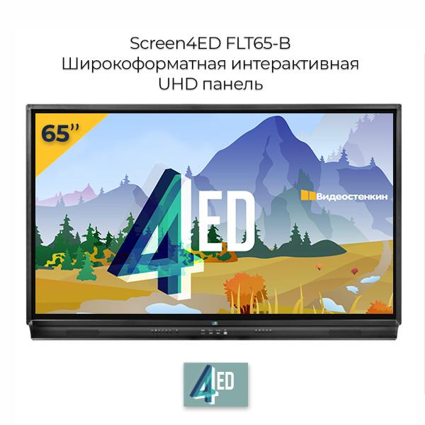 Интерактивная панель 65 дюймов Screen4ED FTLT65-B вид спереди