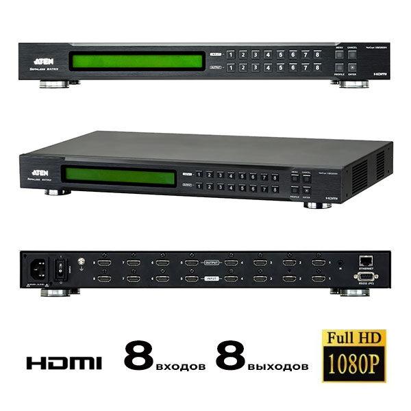 Матричный коммутатор для видеостены 8:8 HDMI Aten VM5808H HD
